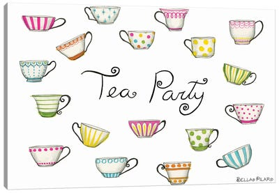 Tea Party Tea Cups Canvas Art Print