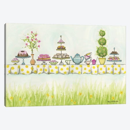 Tea Party Treats Canvas Print #BPR135} by Bella Pilar Canvas Art Print