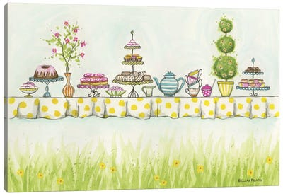 Tea Party Treats Canvas Art Print