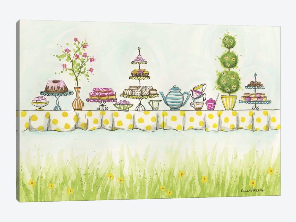 Tea Party Treats by Bella Pilar 1-piece Canvas Wall Art