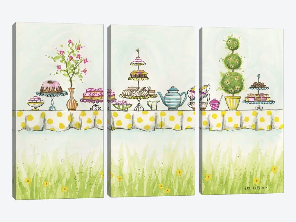 Tea Party Treats by Bella Pilar 3-piece Canvas Artwork