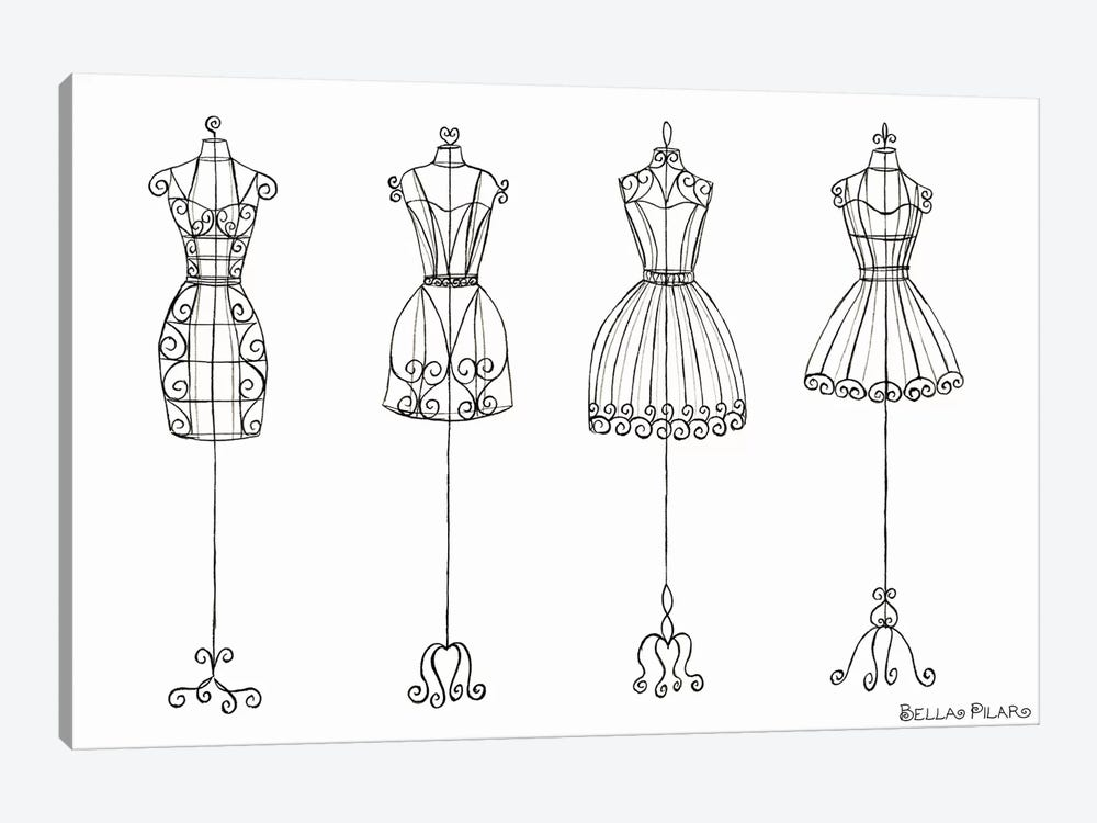 Vanity Dress Forms by Bella Pilar 1-piece Canvas Print