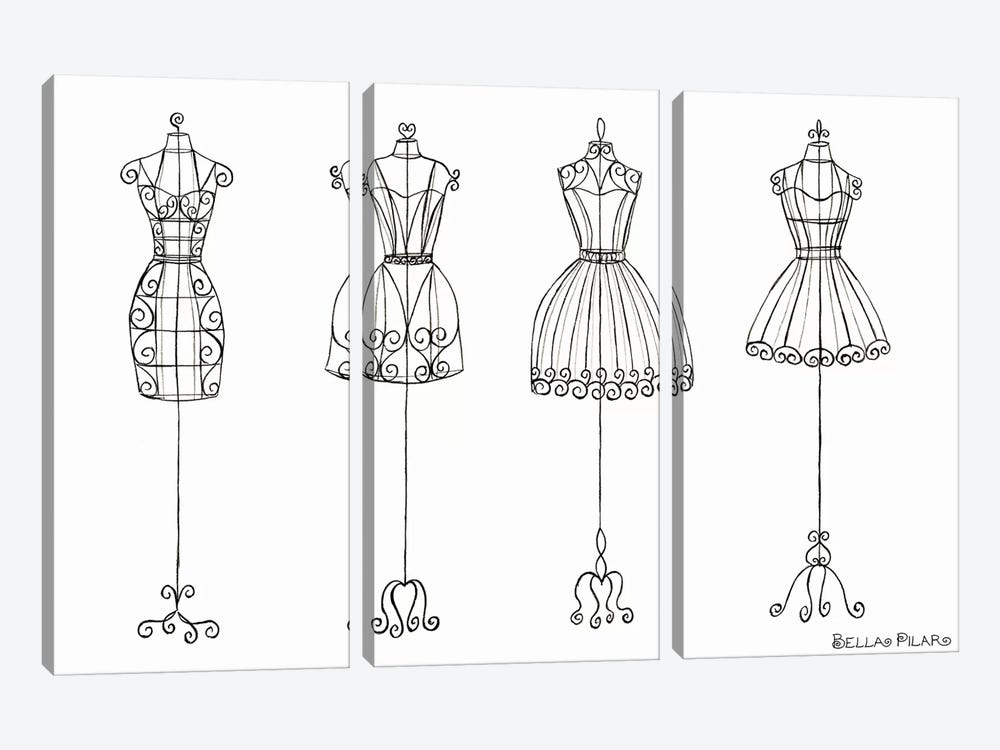 Vanity Dress Forms by Bella Pilar 3-piece Canvas Print