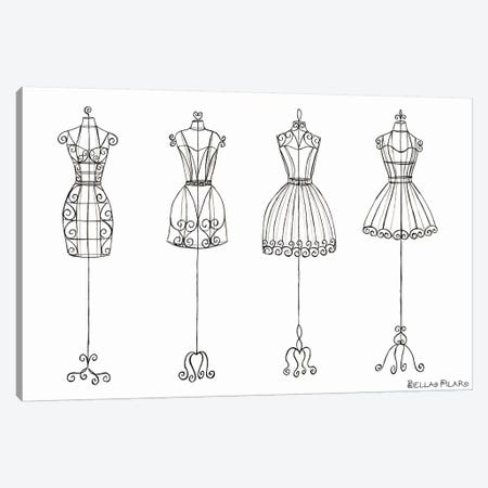 Vanity Dress Forms Canvas Print #BPR136} by Bella Pilar Art Print