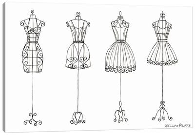 Vanity Dress Forms Canvas Art Print