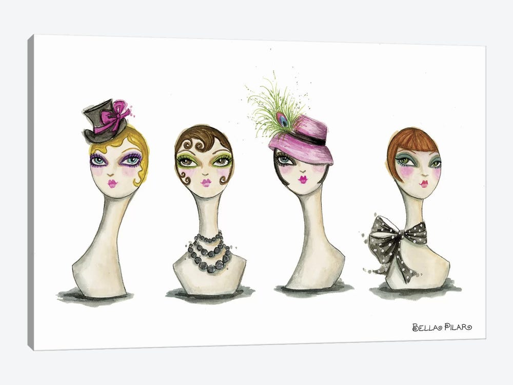 Vanity Head Forms by Bella Pilar 1-piece Canvas Wall Art