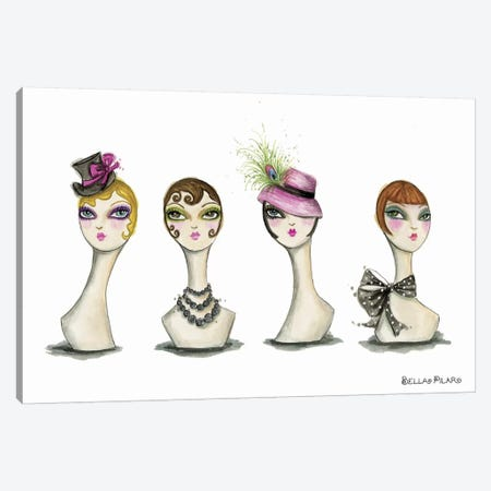 Vanity Head Forms Canvas Print #BPR137} by Bella Pilar Art Print