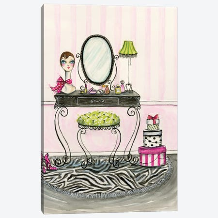 Vanity Room A Canvas Print #BPR138} by Bella Pilar Canvas Artwork