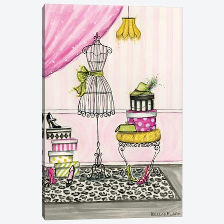 Vanity Room B Canvas Print #BPR139} by Bella Pilar Canvas Wall Art