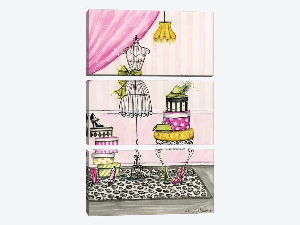 Vanity Room B by Bella Pilar 3-piece Canvas Wall Art