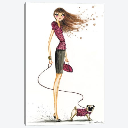 Animal Pooch Canvas Print #BPR13} by Bella Pilar Canvas Print