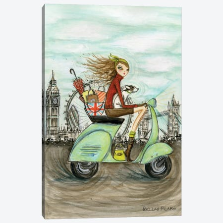 World Shopper: London Canvas Print #BPR140} by Bella Pilar Canvas Print