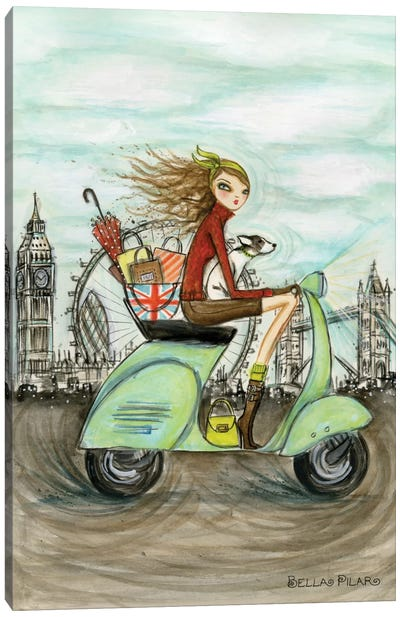 World Shopper: London Canvas Art Print