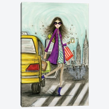World Shopper: New York Canvas Print #BPR141} by Bella Pilar Canvas Print
