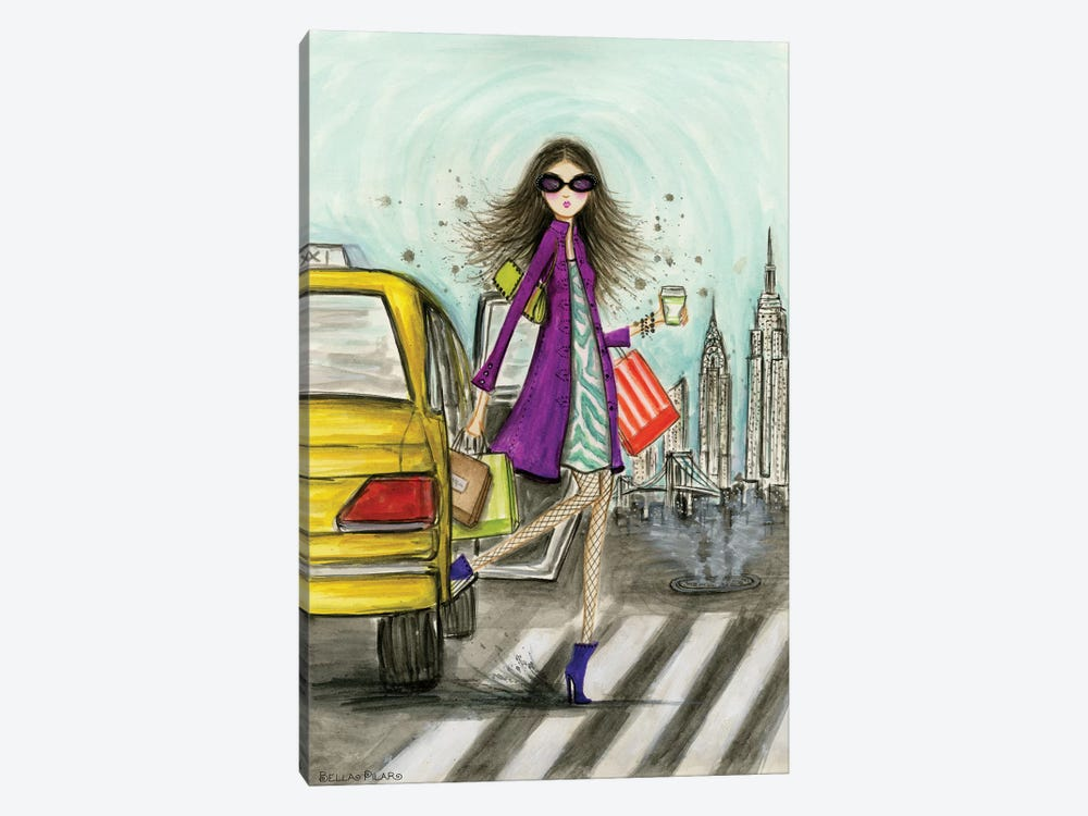 New York by Bella Pilar 1-piece Canvas Art Print