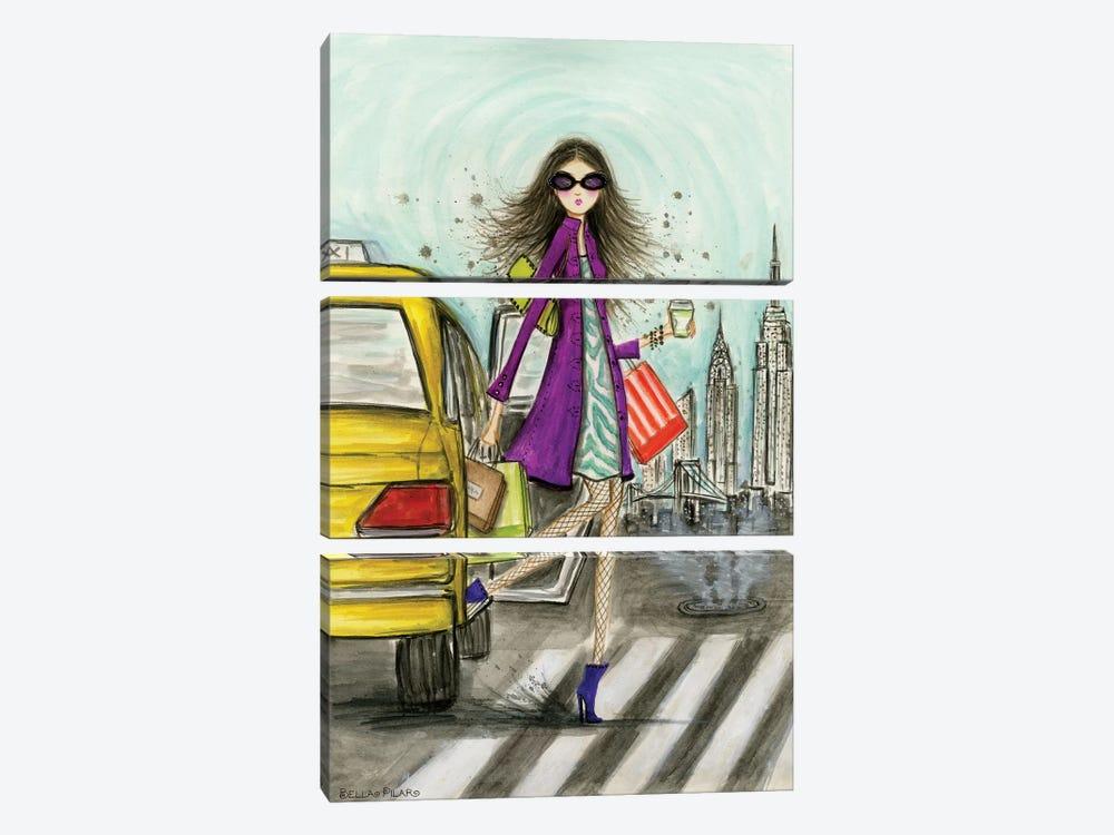 New York by Bella Pilar 3-piece Canvas Art Print
