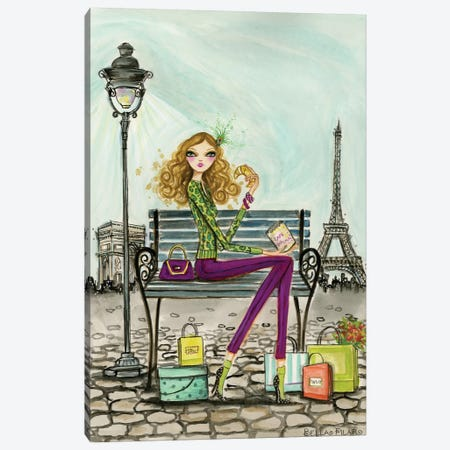 World Shopper: Paris Canvas Print #BPR142} by Bella Pilar Art Print
