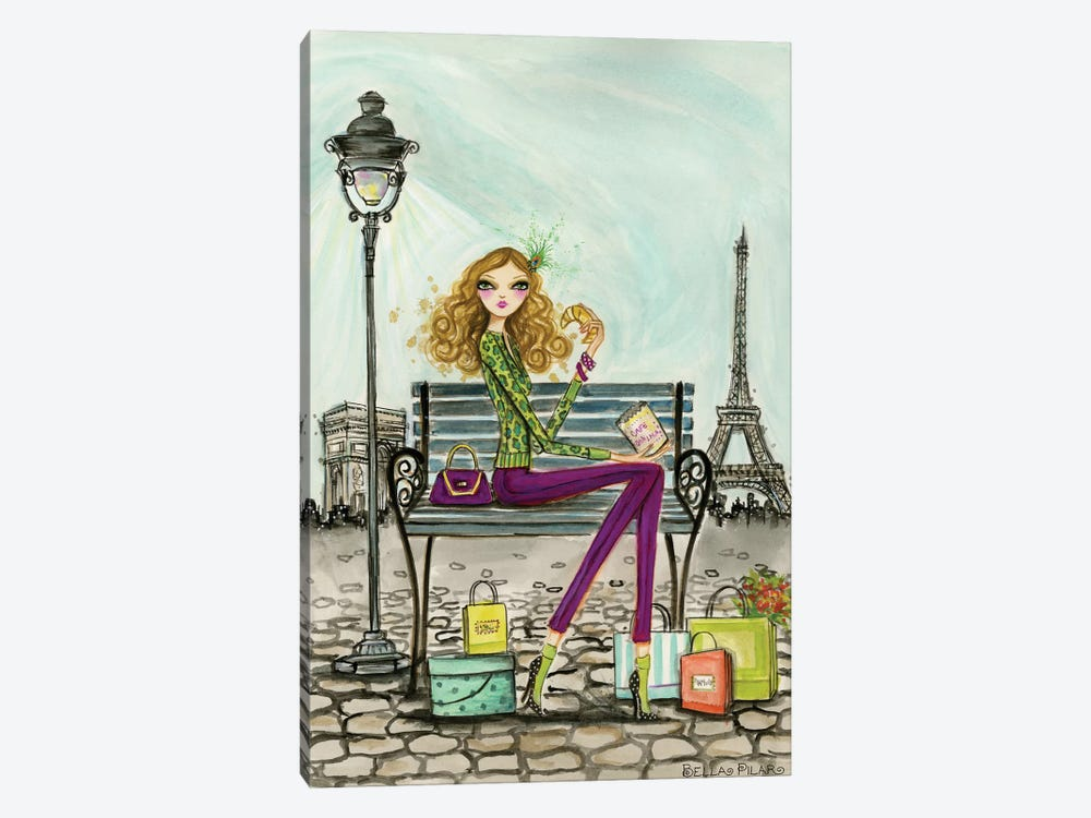 World Shopper: Paris by Bella Pilar 1-piece Canvas Art