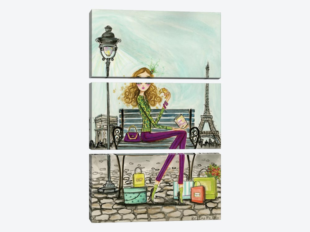 World Shopper: Paris by Bella Pilar 3-piece Canvas Wall Art