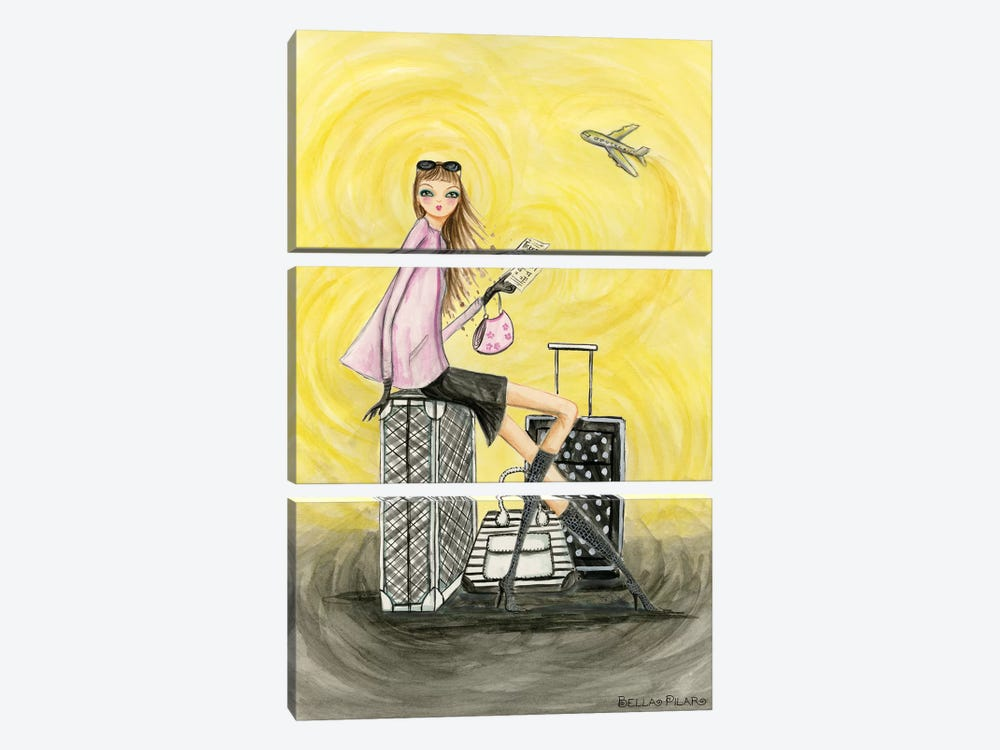 Gold Ticket by Bella Pilar 3-piece Art Print