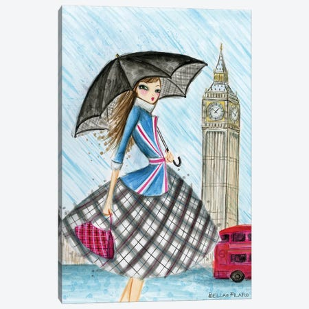 London Canvas Print #BPR144} by Bella Pilar Canvas Wall Art