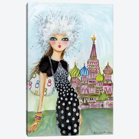 World Traveler: Moscow Canvas Print #BPR145} by Bella Pilar Canvas Wall Art