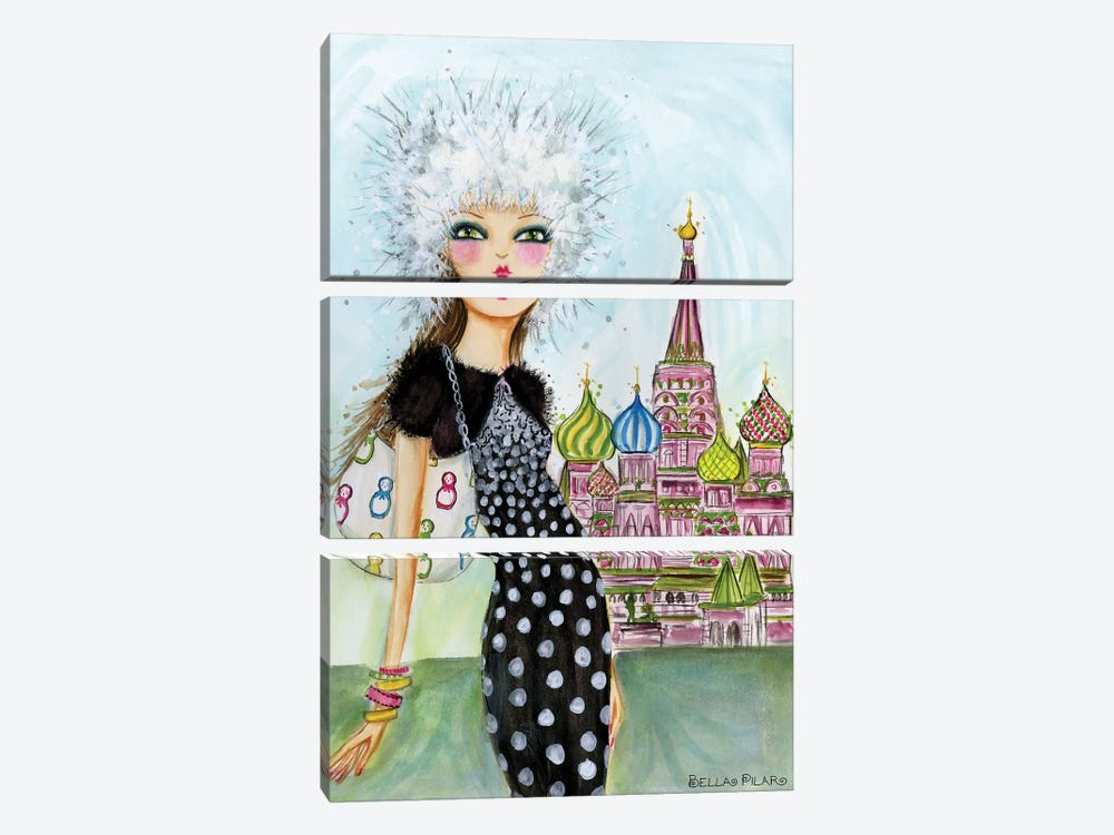 Moscow by Bella Pilar 3-piece Canvas Art Print