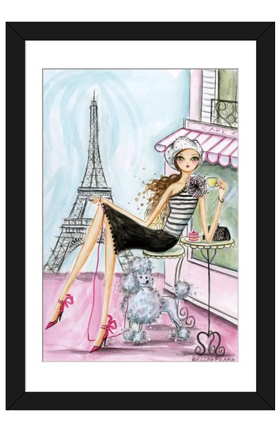 World Traveler: Paris Framed Art Print