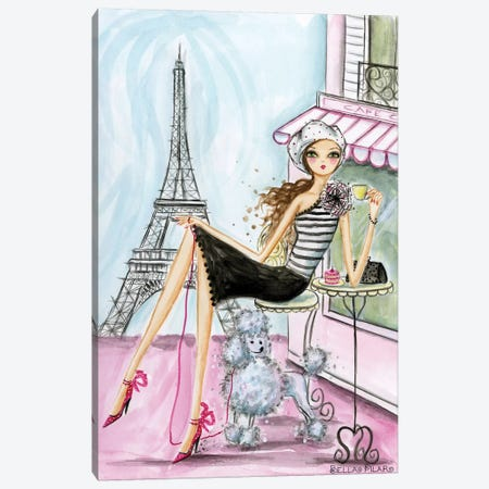World Traveler: Paris Canvas Print #BPR146} by Bella Pilar Canvas Wall Art
