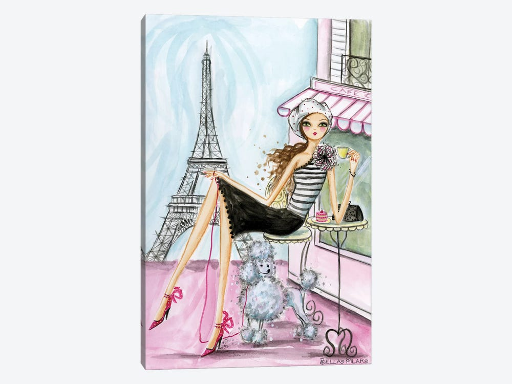 World Traveler: Paris by Bella Pilar 1-piece Canvas Art