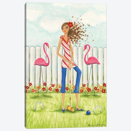 Backyard Games #2 Canvas Print #BPR150} by Bella Pilar Canvas Wall Art