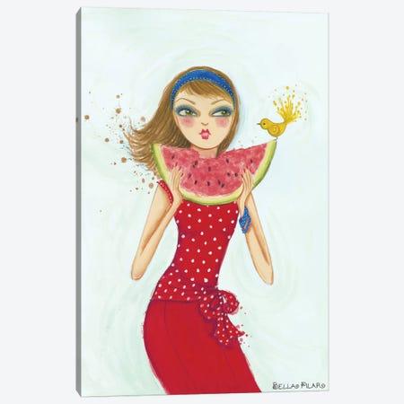 Backyard Melon Canvas Print #BPR151} by Bella Pilar Canvas Wall Art