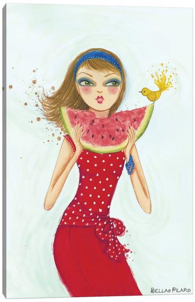 Backyard Melon Canvas Art Print