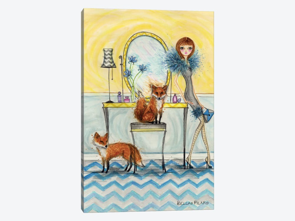 Fiona and Fox by Bella Pilar 1-piece Canvas Print
