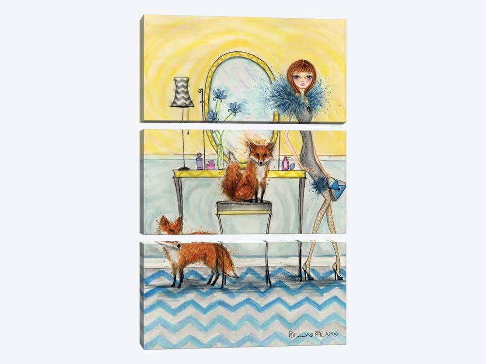 Fiona and Fox by Bella Pilar 3-piece Canvas Art Print