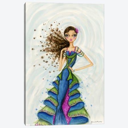 Gemstones Blue Canvas Print #BPR155} by Bella Pilar Canvas Art Print