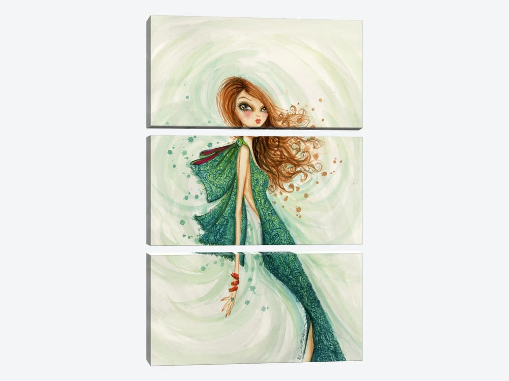 Gemstones Teal by Bella Pilar 3-piece Canvas Artwork