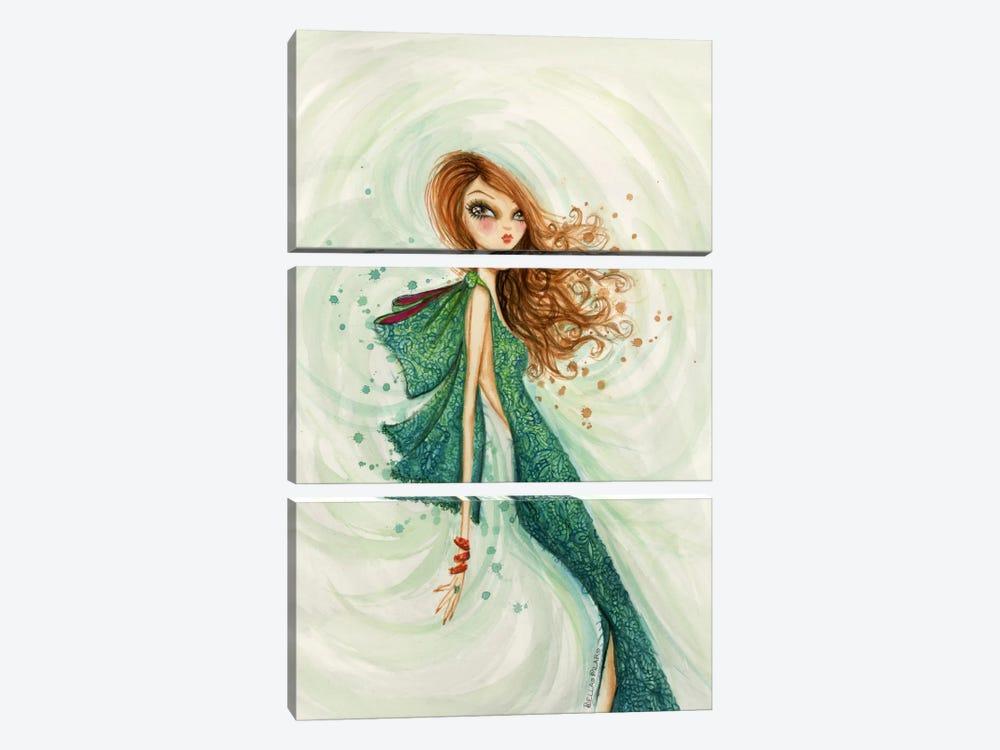 Gemstones Teal by Bella Pilar 3-piece Canvas Artwork