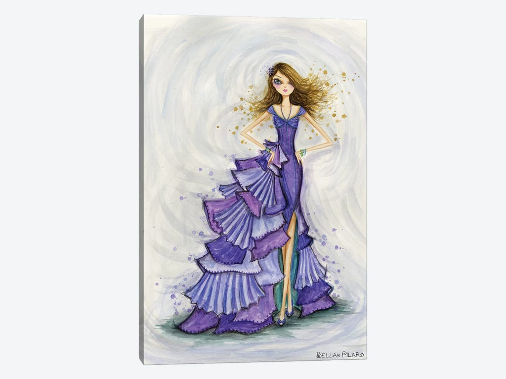 Gemstones Violet 1-piece Art Print