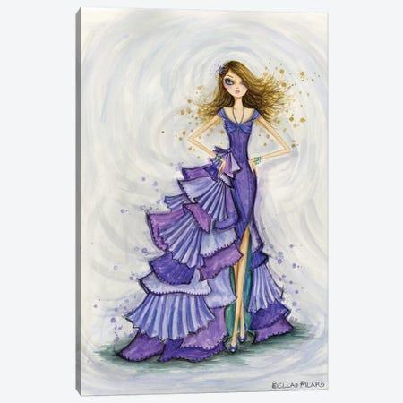 Gemstones Violet Canvas Print #BPR158} by Bella Pilar Canvas Art
