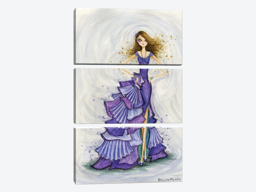 Gemstones Violet by Bella Pilar 3-piece Canvas Art Print