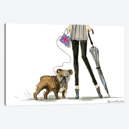 Girls Best Friend Canvas Print #BPR159} by Bella Pilar Canvas Artwork