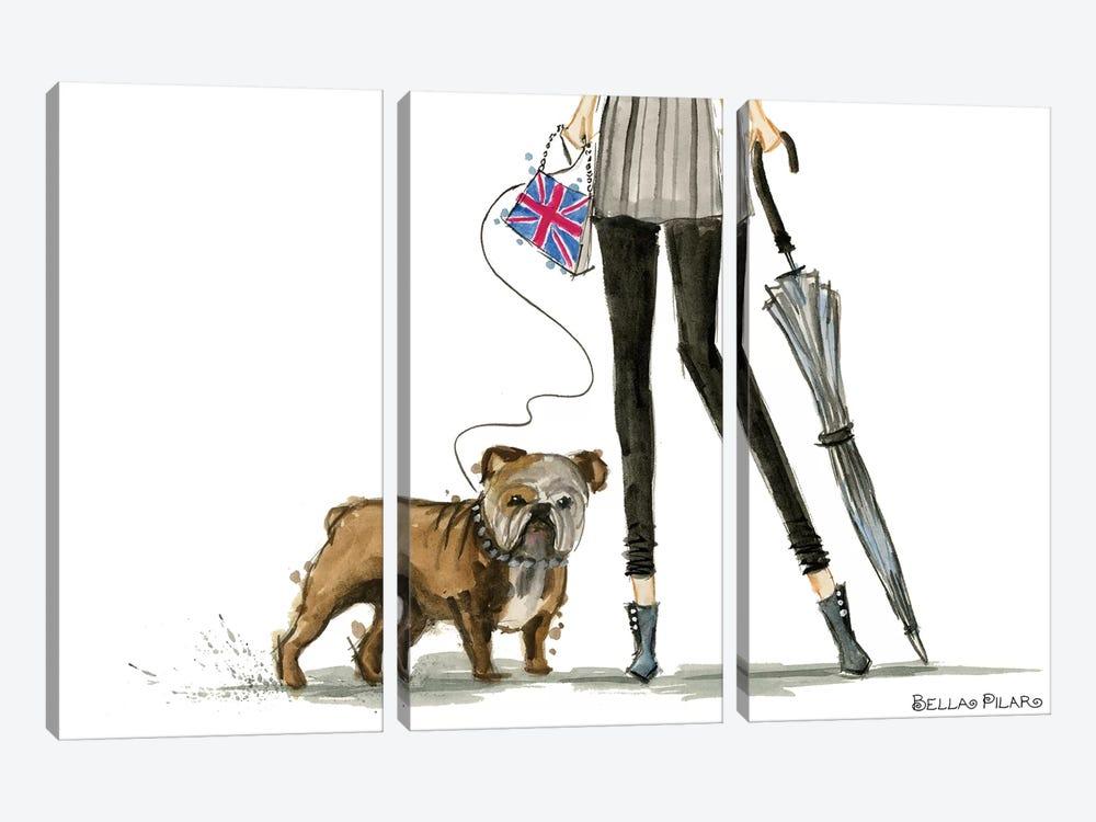Girls Best Friend by Bella Pilar 3-piece Canvas Artwork