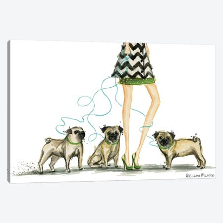 Girls Best Friend #2 Canvas Print #BPR160} by Bella Pilar Art Print