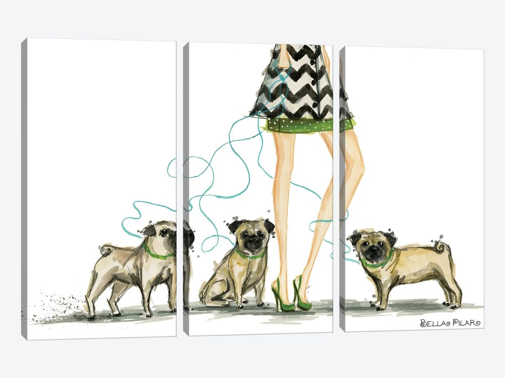 Girls Best Friend #2 by Bella Pilar 3-piece Canvas Artwork