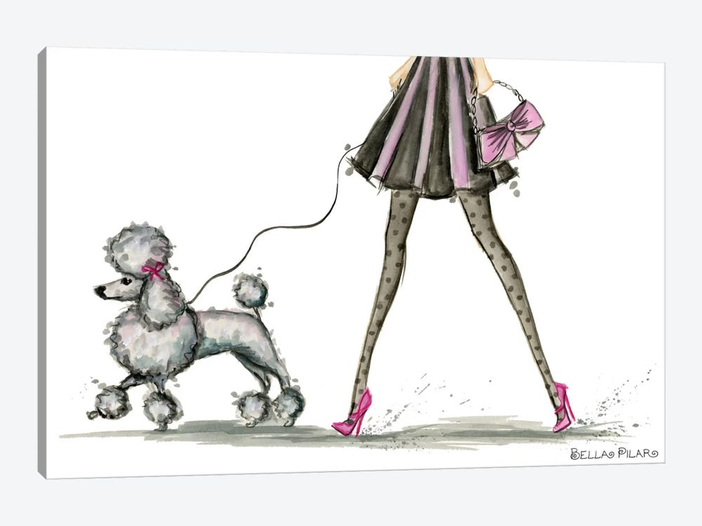 Girls Best Friend #3 by Bella Pilar 1-piece Canvas Art Print