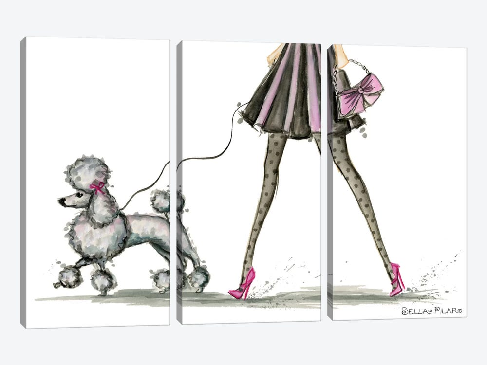 Girls Best Friend #3 by Bella Pilar 3-piece Canvas Art Print