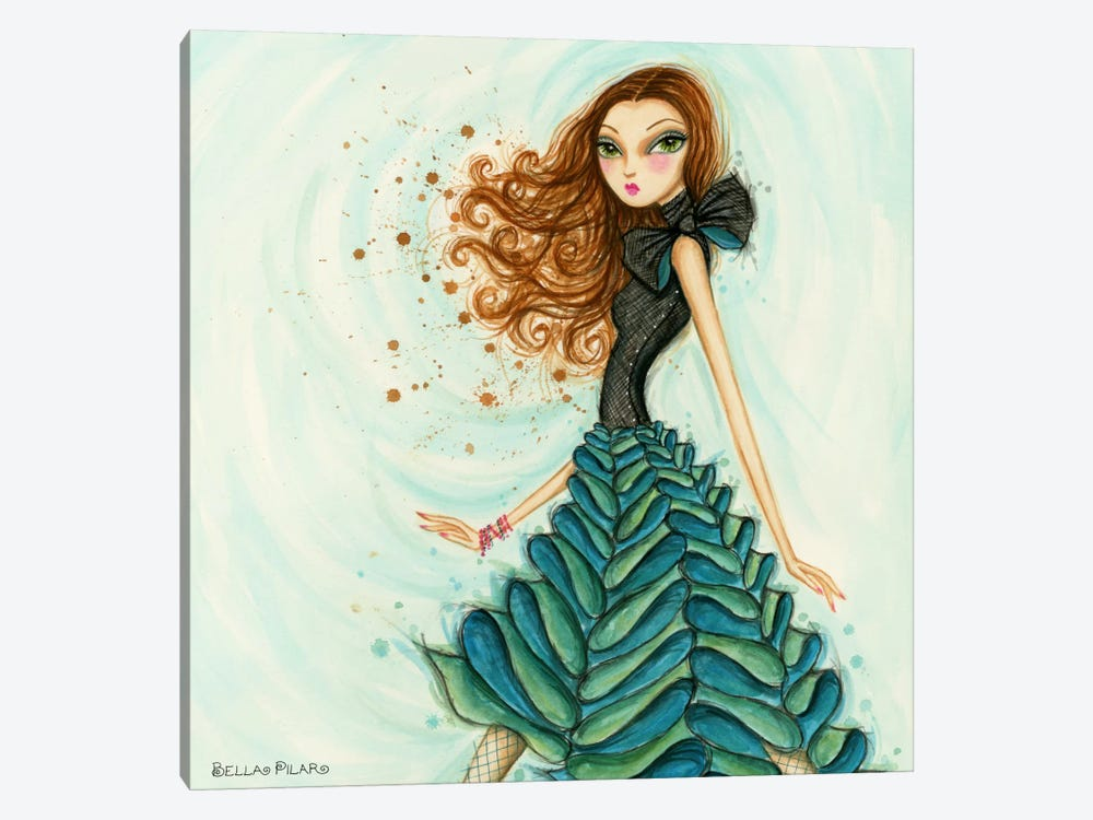 Bows n Ruffles by Bella Pilar 1-piece Canvas Artwork