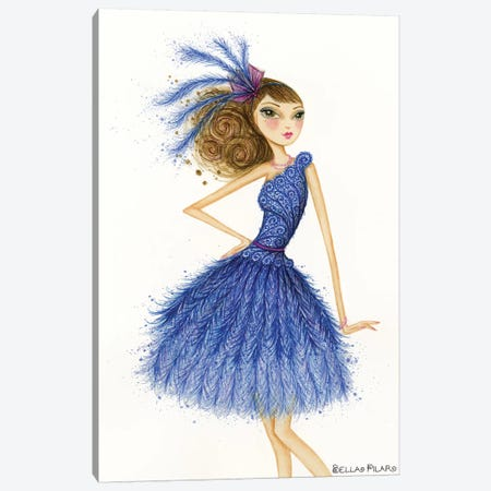 Florence In Feathers Canvas Print #BPR166} by Bella Pilar Canvas Art