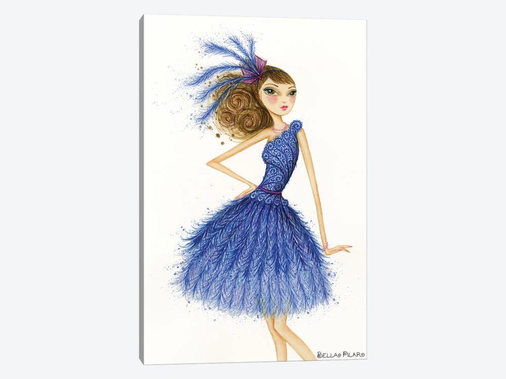 Florence In Feathers by Bella Pilar 1-piece Canvas Artwork